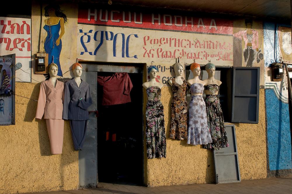 Local clothes shop, Ethiopia,Africa