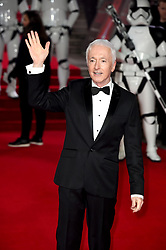 Anthony Daniels attending the european premiere of Star Wars: The Last Jedi held at The Royal Albert Hall, London.