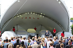 LONDON, ENGLAND - Saturday, June 7, 2014: Country Director UK & Ireland Georg Ell at the UK launch of Tesla Motors' Model S electric car at the Crystal. (Pic by David Rawcliffe/Propaganda)
