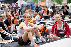 Katja Kadic and Janja Garnbret (SLO) at Semifinal of Climbing event - Triglav the Rock Ljubljana 2018, on May 19, 2018 in Congress Square, Ljubljana, Slovenia. Photo by Urban Urbanc / Sportida