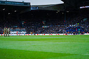 Leeds United and Blackburn Rovers observe a minute silence during the EFL Sky Bet Championship match between Leeds United and Blackburn Rovers at Elland Road, Leeds, England on 9 November 2019.