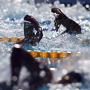 Swimmers compete in the Men's 400m Freestyle heats at the World Swimming Championships in Rome on Sunday, July 26, 2009. Photo Tim Clayton.