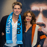 NLD/Amsterdam/20190804 -  Première Diego Maradona inloop, Daniel Boissevain en partner Vanessa Henneman