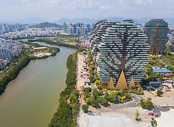 March 28, 2019 - Sanya, Sanya, China - Sanya,CHINA-The Beauty Crown Grand-Tree Hotel looks like forest in Sanya, south China's Hainan Province. (Credit Image: © SIPA Asia via ZUMA Wire)