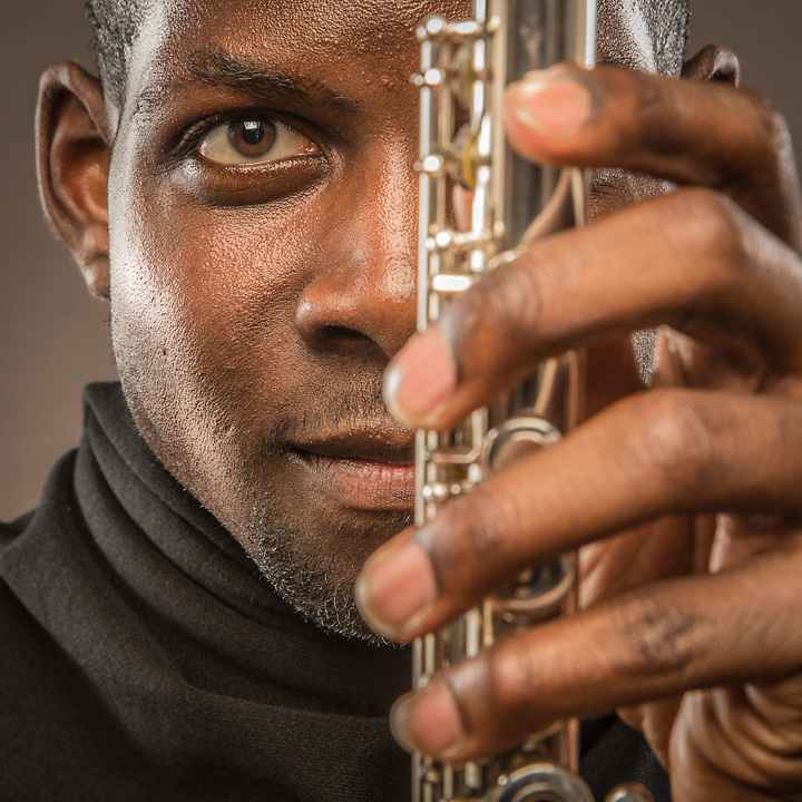 Flutist Ceylon Mitchell II, Anchorage