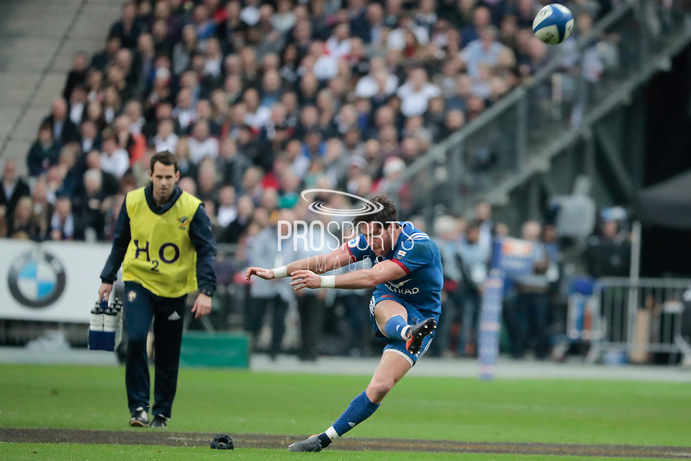 Maxime Machenaud (FRA) scored it third penalty during the NatWest 6 Nations 2018 rugby union match between France and England on March 10, 2018 at Stade de France in Saint-Denis, France - Photo Stephane Allaman / ProSportsImages / DPPI