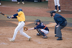 Virginia Cavaliers catcher Beau Seabury (16)in action against GWU.  The Virginia Cavaliers Baseball Team defeated the George Washington University Colonials 15-2 to complete a sweep of the three game series on February 19, 2007 at Davenport Field, Charlottesville, VA.