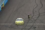 Mar 3, 2013; Avondale, AZ, USA; NASCAR Sprint Cup Series driver Carl Edwards (99) celebrates after winning the Subway Fresh Fit 500 at Phoenix International Raceway.