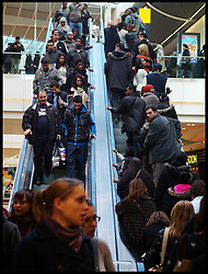 Shoppers at the Westfield Shopping Centre in Stratford, East London looking for bargains in the Boxing Day Sales, Monday December 26, 2011. Photo By Andrew Parsons/i-Images