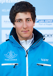 Filip Todorovic, Alpine Ski team at Official photo of  Slovenia team for  European Youth Olympic Festival (EYOF) in Liberec (CZE) at official presentation, on February  9, 2011 at Bled Castle, Slovenia. (Photo By Vid Ponikvar / Sportida.com)