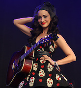 CAMBRIDGE, UK - AUGUST 03: Lindi Ortega performs on stage at the Cambridge Folk Festival on August 3rd, 2014 in Cambridge, United Kingdom. (Photo by Philip Ryalls/Redferns)**Lindi Ortega