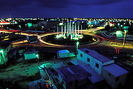 BELIZE / Belize City / Night view of Flags Square...© JOAN COSTA.