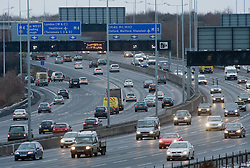 © under license to London News Pictures.  23/12/2010. Heavy traffic on the M25 at the junction for the M4 this afternoon (23/12/2010) as millions of people take to Britain's roads as the Christmas getaway hits its busiest day. Photo credit should read: London News Pictures.