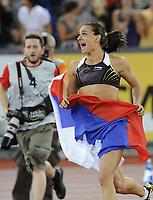 Yelena Isinbayeva (RUS) feiert ihren Weltrekord im Stabhochsprung © Melanie Duchene/EQ Images