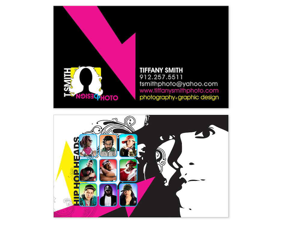 Business Card Design for T.SMITH PHOTO+DESIGN