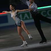 TOKYO - MARCH 25: Xue Shen and Hongbo Zhao of China performs in an exhibition program during at the World Figure Skating Championships at the Tokyo Gymnasium on March 25, 2007 in Tokyo, Japan. (Photo by Andrew T. Malana)..