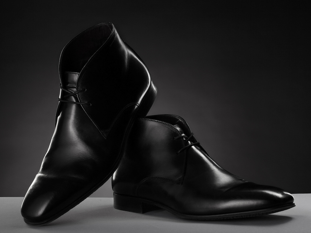 mens black leather To Boot New York ankle boots.