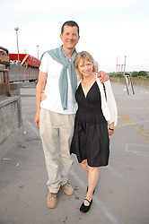 VICKEN PARSONS and ANTONY GORMLEY  at the Montblanc de la Culture Arts Patonage Award 2010 held at Floors 7-10, Multi-Storey Car Park, 95A Rye Lane, London SE15 on 30th June 2010.  The 2010 UK winners were Yana Peel & Candida Gertler.