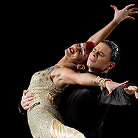 23 January 2010: Tatiana Lahvinovich and Zoran Plohl perform during the Masters Bercy Latin and Ballroom (standard) Dancesport Championship 2010, at Palais Omnisports Paris Bercy, in Paris, France. .