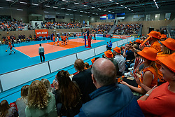 12-06-2019 NED: Golden League Netherlands - Estonia, Hoogeveen<br /> Fifth match poule B - The Netherlands win 3-0 from Estonia in the series of the group stage in the Golden European League / Dutch support, centercourt, Orange