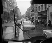 03/09/1971<br /> 09/03/1971<br /> 03 September 1971<br /> Traffic on Grafton Street three days before the street was pedestrianised, Dublin.