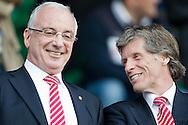 NIJMEGEN - NEC - Ajax, Eredivisie, seizoen 2010-2011, 17-04-2011, McDos Goffert Stadion, Uri Coronel (L), Rik van den Boog (R).