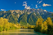 Mountains and Lillooet River<br />Near Pemberton<br />British Columbia<br />Canada