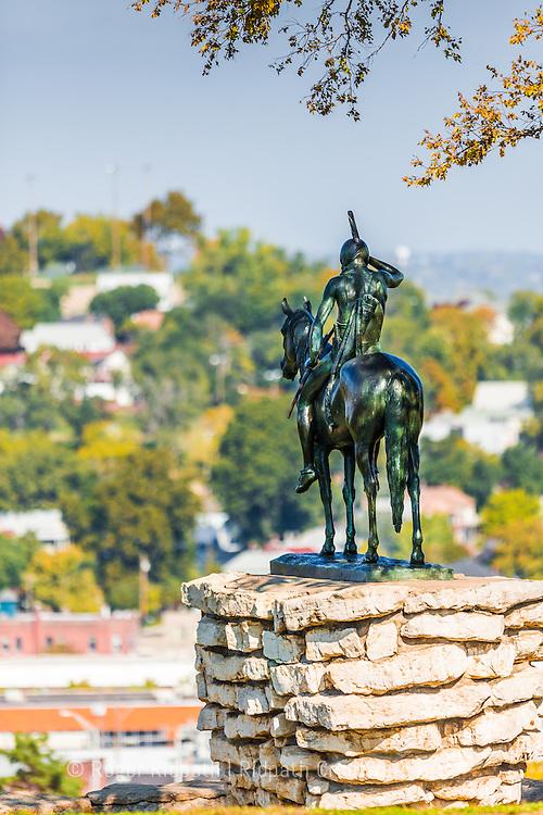 KC Scout Sculpture Looking in Kansas City Missouri