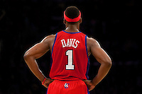 15 January 2010: Guard Baron Davis of the Los Angeles Clippers' back against the Los Angeles Lakers during the second half of the Lakers 126-86 victory over the Clippers at the STAPLES Center in Los Angeles, CA.
