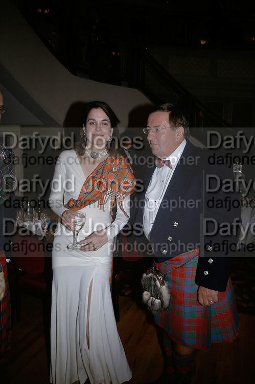 Claire Enders and David Reid chairman of Tesco, The Royal Caledonian Ball 2007. Grosvenor House. 4 May 2007.  -DO NOT ARCHIVE-© Copyright Photograph by Dafydd Jones. 248 Clapham Rd. London SW9 0PZ. Tel 0207 820 0771. www.dafjones.com.