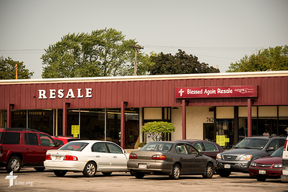 Exterior photograph at Blessed Again Resale on Wednesday, Sept. 2, 2015,  in Milwaukee, Wis. The resale shop benefits A Place of Refuge maternity home. LCMS Communications/Erik M. Lunsford