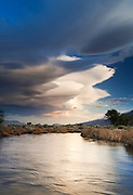 Lenticular Couds over the Owens River, Bishop, California