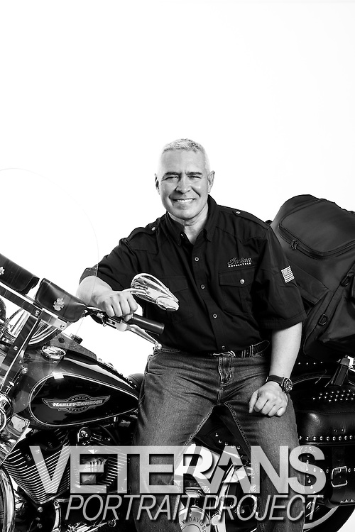 Ulises Miranda III<br /> Army<br /> O-5<br /> 1982 - 2006<br /> Lab Manager &amp; IG<br /> <br /> Veterans Portrait Project<br /> Laconia, NH<br /> Laconia Bike Week