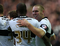 Derby County's Jake Buxton celebrates his goal-Photo mandatory by-line: Matt Bunn/JMP - Tel: Mobile: 07966 386802 02/11/2013 - SPORT - FOOTBALL - Elland Road - Leeds - Leeds United v Yeovil Town - Sky Bet Championship - Photo mandatory by-line: Matt Bunn/JMP - Tel: Mobile: 07966 386802 09/11/2013 - SPORT - FOOTBALL - Pride Park - Derby - Derby County v Sheffield Wednesday - Sky Bet Championship