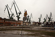 Iconic cranes of Gdansk shipyard<br /> <br /> Gdansk and Remontowa Shipyards