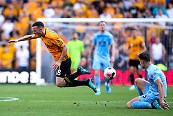 Diogo Jota of Wolverhampton Wanderers is fouled by James Tarkowski of Burnley - Mandatory by-line: Robbie Stephenson/JMP - 25/08/2019 - FOOTBALL - Molineux - Wolverhampton, England - Wolverhampton Wanderers v Burnley - Premier League