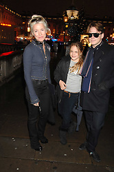 DAPHNE GUINNESS and her children ALEXIS NIARCHOS and NICOLAS NIARCHOS at a Winter Party to celebrate the opening of the Ice Rink at Somerset House, London in association with jewellers Tiffany on 20th November 2007.<br /><br />NON EXCLUSIVE - WORLD RIGHTS