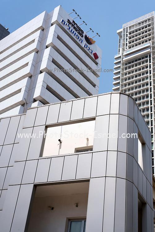 modern high-rise office buildings in Tel Aviv commercial centre, Israel