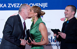 Martin Steiner and Alenka Bikar at Best Slovenian athlete of the year ceremony, on November 15, 2008 in Hotel Lev, Ljubljana, Slovenia. (Photo by Vid Ponikvar / Sportida)