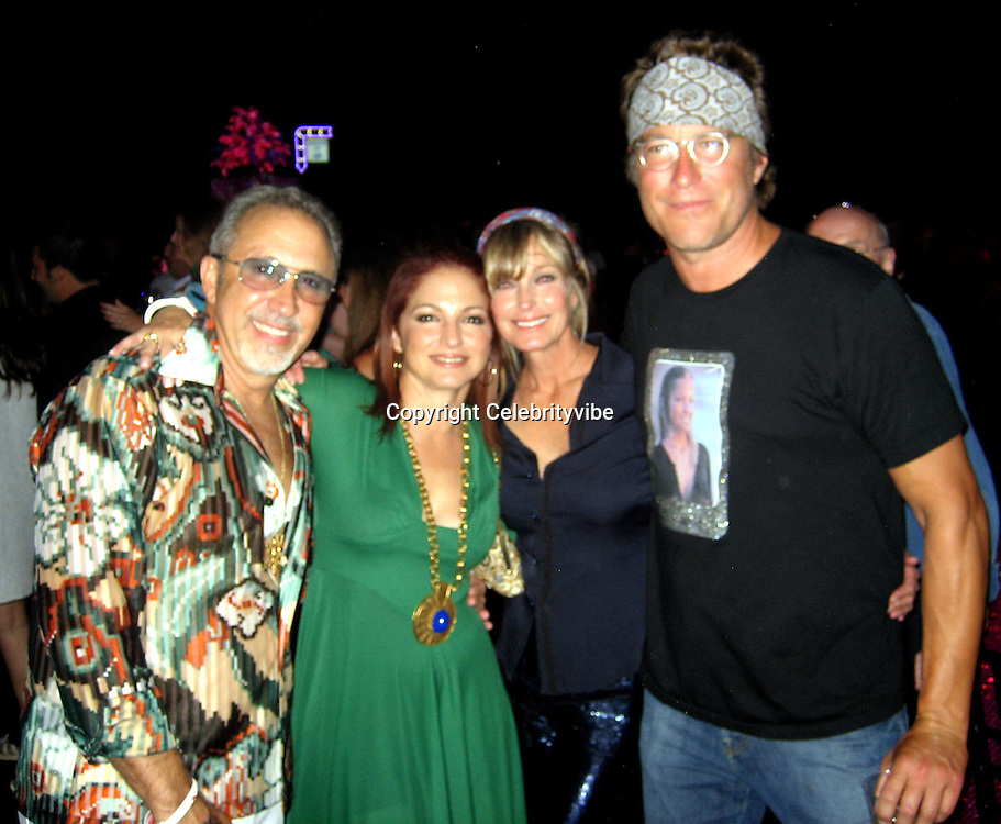 **EXCLUSIVE**.Emilio & Gloria Estefan with Bo Derek & John Corbett.Silly 70's Party with performances by Aerosmith, Earth Wind, Fire & Village People & Stevie Wonder.Opening of Cain at The Cove Hotel.Grand Ballroom.Atlantis Hotel.Paradise Island, Bahamas.Saturday, May 12, 2007 .Photo By Celebrityvibe.To license this image please call (212) 410 5354; or.Email: celebrityvibe@gmail.com ;.