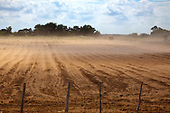 Dusty field near Las Martinas, Pinar del Rio, Cuba.