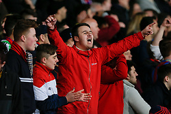 Crystal Palace fans chant - Photo mandatory by-line: Rogan Thomson/JMP - 07966 386802 - 06/04/2015 - SPORT - FOOTBALL - London, England - Selhurst Park - Crystal Palace v Manchester City - Barclays Premier League.