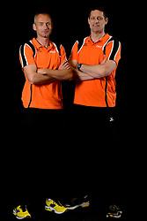 25-04-2013 VOLLEYBAL: NEDERLANDS MANNEN VOLLEYBALTEAM: ROTTERDAM<br /> Selectie Oranje mannen seizoen 2013-2014 / Coach Edwin Benne en Trainer Henk-Jan Held<br /> ©2013-FotoHoogendoorn.nl