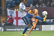 Port Vale Forward, Martin Paterson (13) shoots during the EFL Sky Bet League 1 match between Bury and Port Vale at the JD Stadium, Bury, England on 3 September 2016. Photo by Mark Pollitt.