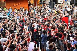 HONG KONG, CHINA - Wednesday, July 19, 2017: Liverpool's captain Jordan Henderson visits a new Nike store in the Mong Kok district of Hong Hong. (Pic by Pool/Nike/Propaganda)