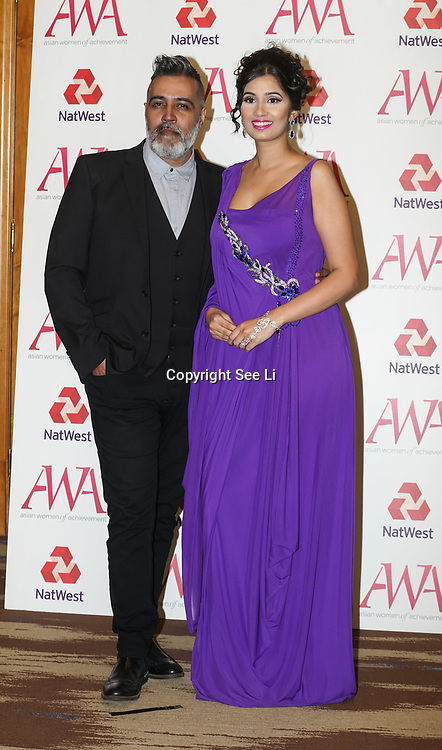 London, UK. 10th May 2017. Sunny Grewal, Shay Grewal attends The Asian Women of Achievement Awards 2017 at the London Hilton on Park Lane Hotel. Photo by See li Credit: See Li