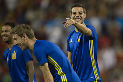 October 6, 2017 - Alicante, Spain - Azpilicueta (Chelsea) during the qualifying match for the World Cup Russia 2018 between Spain and Albaniaat the Jose Rico Perez stadium in Alicante, Spain on October 6, 2017. (Credit Image: © Jose Breton/NurPhoto via ZUMA Press)