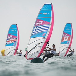 2012 Olympic Games London / Weymouth<br /> RSX man racing day 1 <br /> RS:X MenGREKokalanis Byron<br /> RS:X MenCANPlavsic Zachary<br /> RS:X MenGBRDempsey Nick