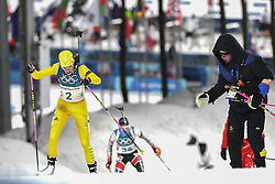 February 11, 2018 - Pyeongchang, GANGWON, SOUTH KOREA - Feb 10, 2018-Pyeongchang, South Korea-Hanna OEBERG of Sweden action on the snow during an Olympic Biathlon Women Sprint 7.5Km at Biathlon Center in Pyeongchang, South Korea. (Credit Image: © Gmc via ZUMA Wire)