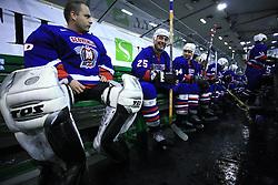 Goalkeeper Luka Simsic, Toni Tisler, Peter Rozic at friendly ice-hockey game Slovenia Oldies vs Gazprom Export (Russia), on October 24, 2008 in Hala Tivoli, Ljubljana, Slovenia. Gazprom Export won 6:3.(Photo by Vid Ponikvar / Sportal Images)